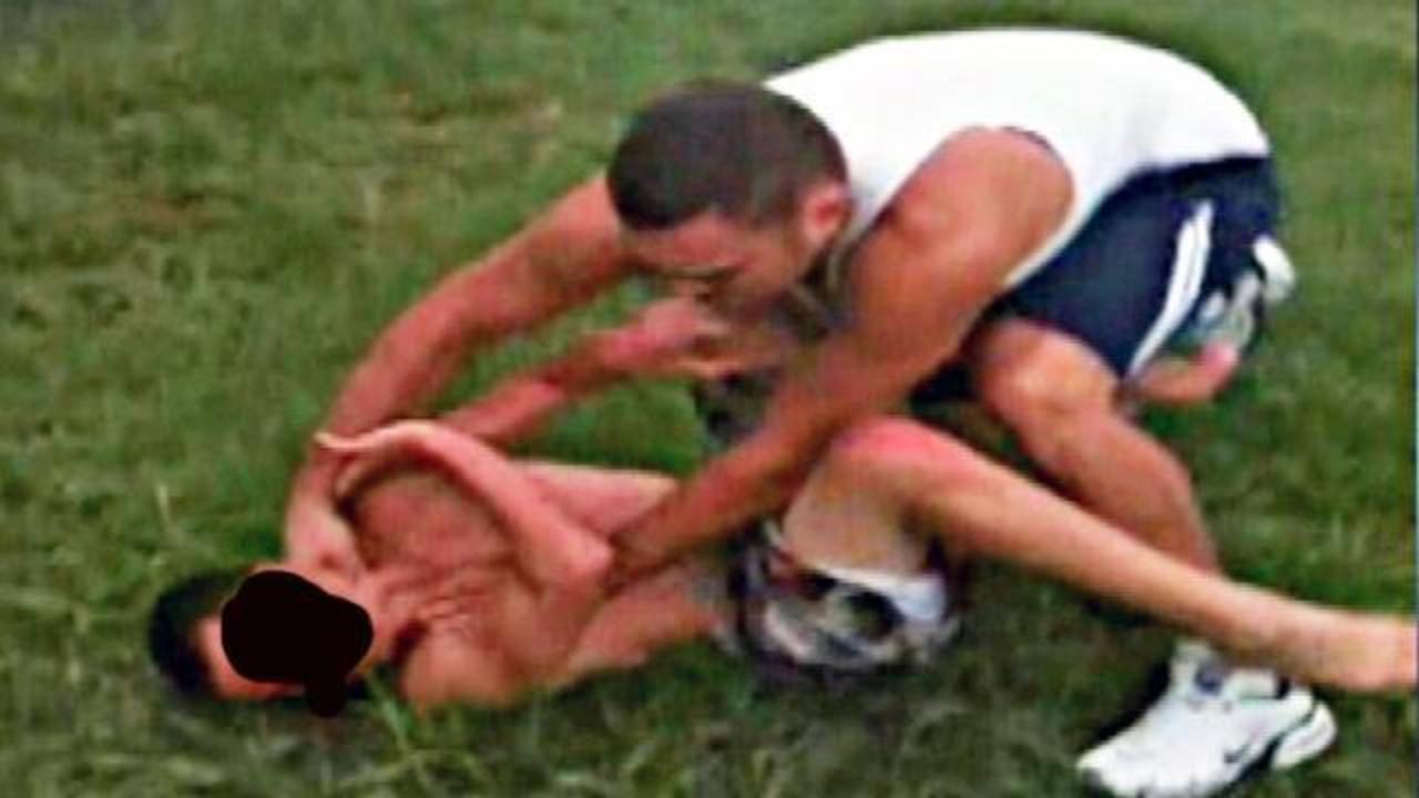 slideshow dad beating teen in backyard brawl wftv