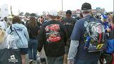 Slideshow: Fans disperse after race postponed - (2/10)