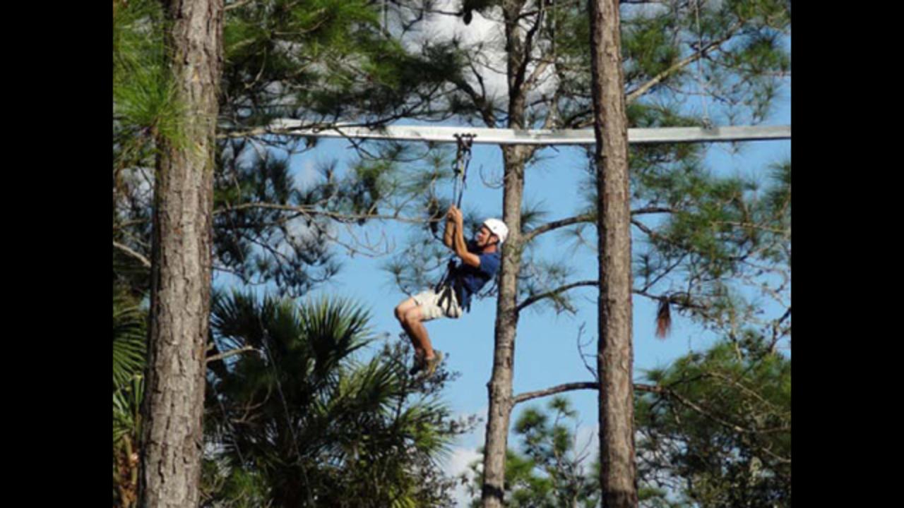 first zip line roller coaster in u s to open in st cloud wftv