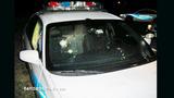 Sanford police car riddled with bullets - (2/4)