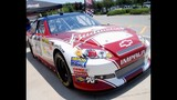 Harvick, Keselowski and Kahne NASCAR cars on display - (10/16)