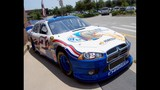 Harvick, Keselowski and Kahne NASCAR cars on display - (1/16)