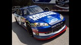 Harvick, Keselowski and Kahne NASCAR cars on display - (4/16)