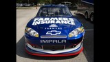 Harvick, Keselowski and Kahne NASCAR cars on display - (8/16)