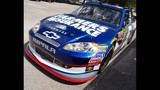 Harvick, Keselowski and Kahne NASCAR cars on display - (12/16)