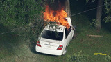 Photos: Shooting suspect's car on fire - (15/17)
