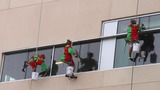 High flying elves wash windows at Nemours… - (9/10)
