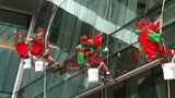 High flying elves wash windows at Nemours… - (4/10)