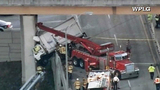 Photos: Truck dangles off I-95 overpass - (6/6)