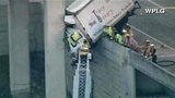 Photos: Truck dangles off I-95 overpass - (1/6)