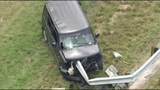 Photos: Guard rail pierces man's SUV - (1/9)