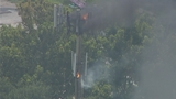 Photos: Sanford cell tower catches fire - (8/11)