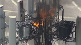 Photos: Sanford cell tower catches fire - (4/11)