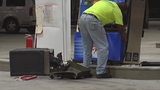 Photos: Beer truck backs into gas pump - (6/7)