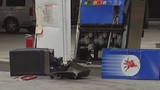 Photos: Beer truck backs into gas pump - (4/7)