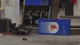 Photos: Beer truck backs into gas pump - (2/7)