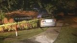 Photos: Man crashes car into subdivision sign - (4/8)