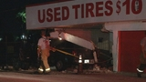 Photos: Pickup truck slams into tire shop - (2/8)