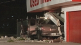 Photos: Pickup truck slams into tire shop - (3/8)