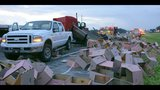 Photos: Crash spills crates across I-75 - (3/3)