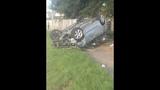 Photos: Car slams through house fence - (14/15)