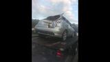 Photos: Car slams through house fence - (7/15)