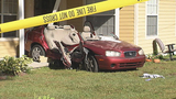 Photos: Car crashes into porch of home - (1/13)