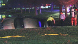 Photo: Woman crashes car into pond - (9/9)