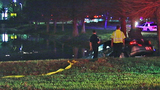 Photo: Woman crashes car into pond - (7/9)