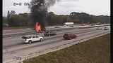 Photos: I-4 and SR-434 car fire - (6/10)