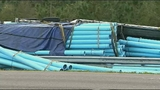Photos: Truck carrying pipes crashes on I-95 - (3/8)