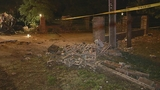 Photos: Car crashes into brick wall - (2/14)
