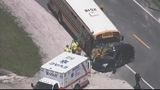 Photos: School bus, car and semi involved in accident - (4/10)
