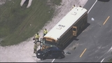 Photos: School bus, car and semi involved in accident - (6/10)
