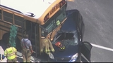 Photos: School bus, car and semi involved in accident - (1/10)