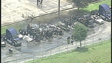 Photos: Fire destroys trucks at Orlando business - (3/10)
