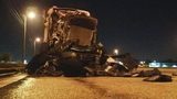 Photos: Tractor-trailer goes up in flames - (5/5)