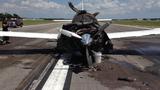 Small plane catches fire_7134688