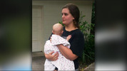 Jessica McCreery, 21 and her baby, 7-month-old Penelope Hogarth