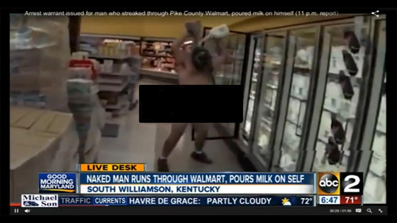 Naked man wearing Halloween mask runs into Walmart, covers    - WFTV