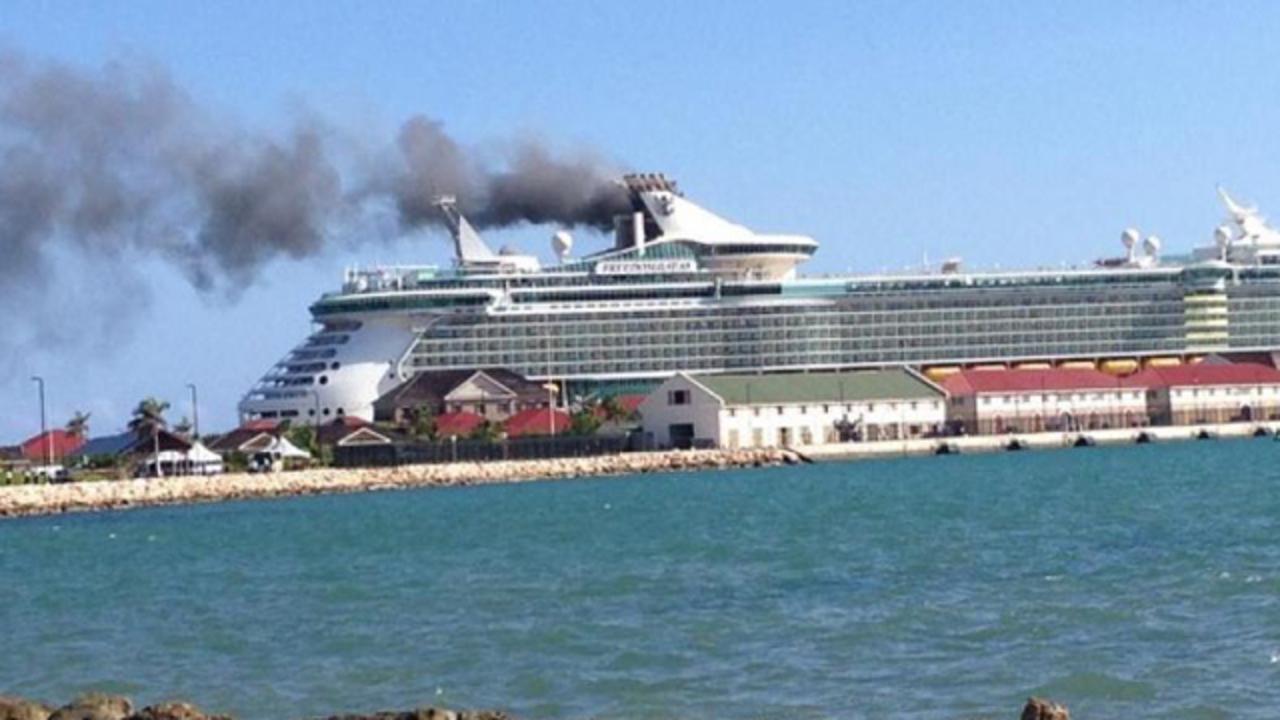 photos royal caribbean cruise ship fire wftv