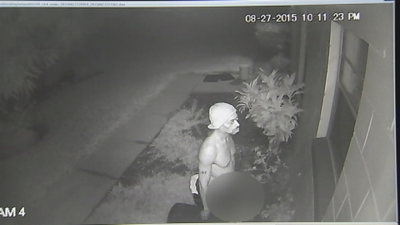 deputies surveillance video shows man exposing self while looking