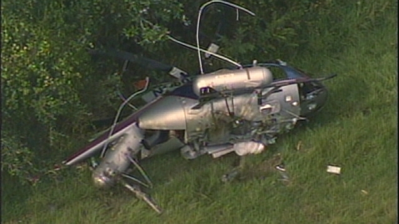 Pilot escapes serious injury after helicopter crashes in New
