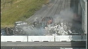 A semitruck carrying mops caught fire Wednesday and snarled traffic on northbound Interstate 95 near Interstate 4 in Daytona Beach.