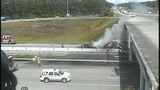 Raw: Truck fire on Interstate 95