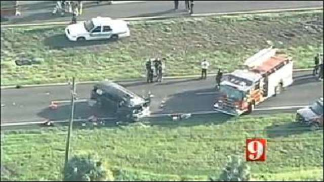 Woman, 8 children hospitalized after rollover crash near St