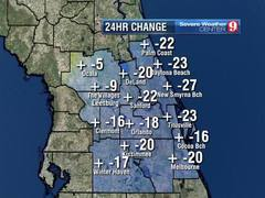 25 degree cool down today, weekend chilly too!
