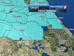 Freeze Warnings Posted!