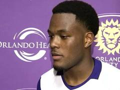 Orlando City Forward Cyle Larin After Open Practice