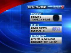 Central Florida Freeze Warning & Frost Advisory